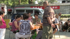 Chinese people playing majong, Beijing Stock Footage