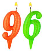 Birthday candles number ninety six Stock Photos