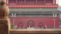 Beijing Gulou Drum Tower, China Stock Footage