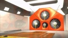 Aeroacoustic, wind tunnel Stock Footage
