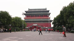 Beijing Drum Tower courtyard, China Stock Footage