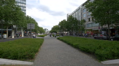 A beautiful view of Tauentzienstrasse, Berlin Stock Footage