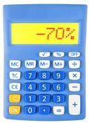 Calculator with -70 Stock Photos
