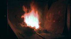 Furnace for tempering metal Stock Footage