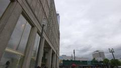View of Galeria Kaufhof and Alexanderplatz, Berlin Stock Footage