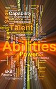 Abilities background concept glowing Stock Illustration