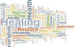 Healing background concept - stock illustration