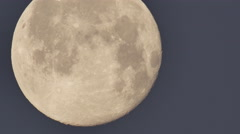 Close up of the moon against a clear sky Stock Footage