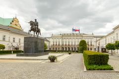 Warsaw. Presidential Palace. - stock photo