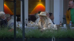 Women relaxing at the Teehaus restaurant in Berlin Stock Footage