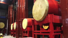 Chinese drums close-up, Gulou, Beijing Stock Footage