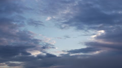 Clouds closing in on a blue sky hole Stock Footage