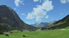 Mountain Valley  Of Lech, Austria Stock Footage