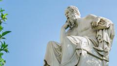 Marble Statue Of The Philosopher Socrates Time Lapse Stock Footage