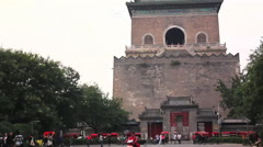 Beijing Zhonglou Bell Tower, China Stock Footage
