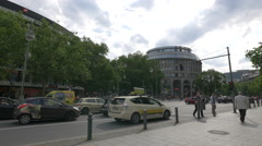 View of Forever 21 and Barmer GEK, Berlin - stock footage