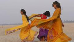 Indian young women dancing - stock footage