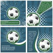 Set of soccer poster template design Stock Illustration