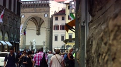 ULTRA HD 4K real time shot,The Palazzo Vecchio in Florence Stock Footage