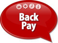 Bay Pay  Business term speech bubble illustration Stock Illustration