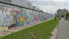 Graffiti at Berlin Wall, Germany Stock Footage
