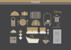 Hotel icon vector luxury - stock illustration