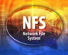 Stock Illustration of NFS acronym definition speech bubble illustration