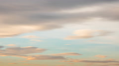 Morning clouds in creamy colors timelapse - stock footage