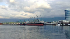 Sea Port Of Batumi 5 Stock Footage