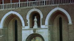 ULTRA HD 4K real time shot,Basilica of Saint Anthony of Padua Stock Footage