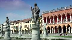 ULTRA HD 4K real time shot,Padua, Prato della Valle square, Stock Footage