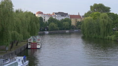 Great view of Spree River in Berlin Stock Footage