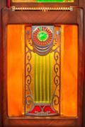 Close up of a vintage wooden jukebox Kuvituskuvat