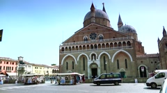 ULTRA HD 4K real time shot,Basilica of Saint Anthony of Padua - stock footage