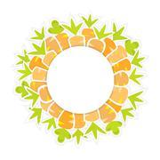 Easter orange carrots pattern on a white Stock Illustration