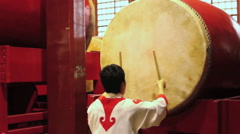 Chinese drumming performance, Beijing, China Stock Footage