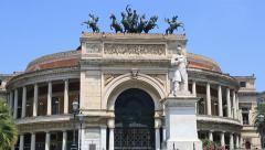 Teatro Politeama Garibaldi 9 Stock Footage