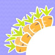 Eastern orange carrots pattern on a purple - stock illustration