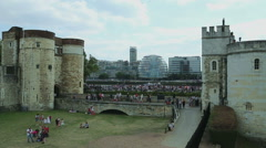 Tower Hill entrance in London Stock Footage