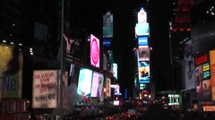 New York 021HD Manhattan times square by night Stock Footage