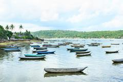 Stock Photo of some fishing boats at coast