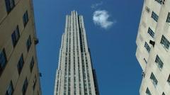 New York 220 Manhattan Rockefeller Center main building Stock Footage