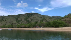 Deserted Beach on the Indonesian Island of Komodo Stock Footage