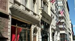 New York 235 Manhattan luxury shop in 5th avenue - stock footage