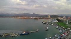 Sea Port Of Batumi 9 Stock Footage