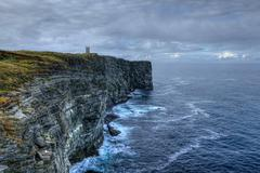 Memorial at Marwick Head in Orkney, Scotland Stock Photos