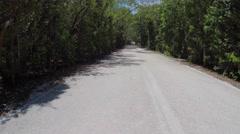 Florida Keys road aerial Stock Footage