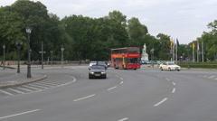 Traffic on Grosser Stern in Berlin Stock Footage