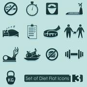 Stock Illustration of Set of diet icons