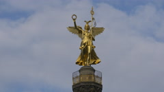 View of the Siegessäule on Victory Column, Berlin Stock Footage